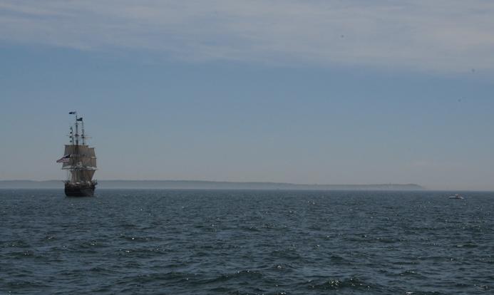 CHARLES W MORGAN sailing off Gay Head June 18 2014. Courtesy of Mystic Seaport